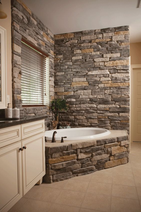 Heritage-Stone,-Interior-Ledgestone for the master bath....very rustic!