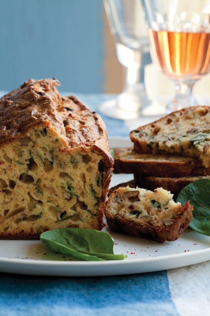 Caramelized Onion, Walnut, and Spinach Savory Cake | Vegetarian Times