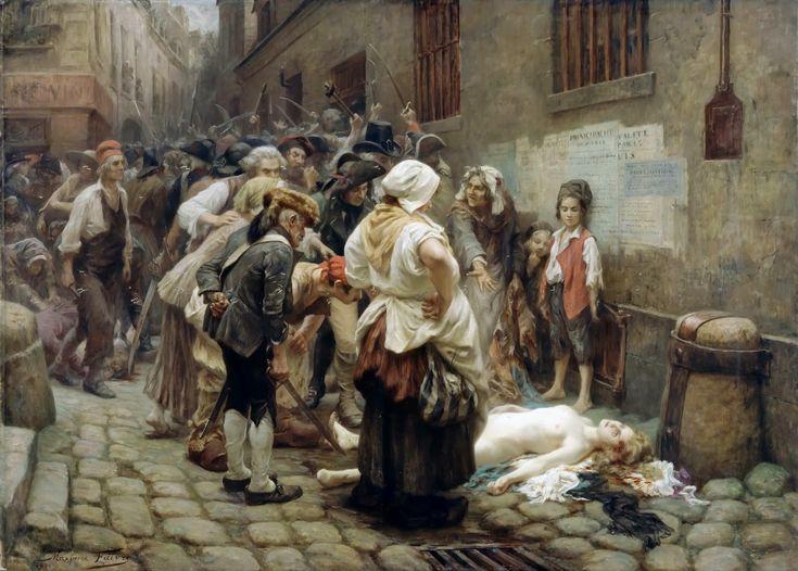 Ο θάνατος της πριγκίπισσας De Lamballe (1908) Σκηνή από τη Γαλλική επανάσταση