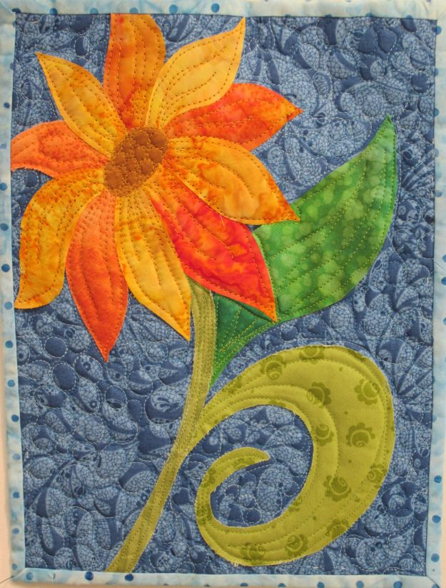 pin sunflowers quilts by and il sunflower baird paper julie plainfield quilt
