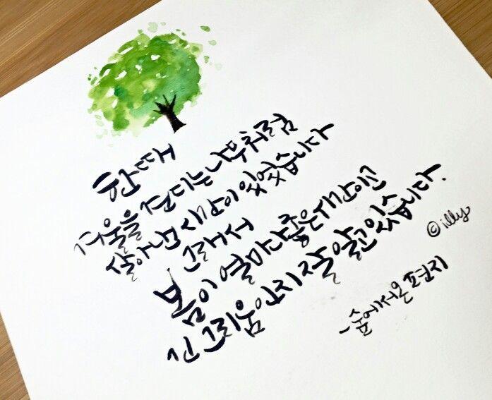 캘리그라피 숲에서온 편지