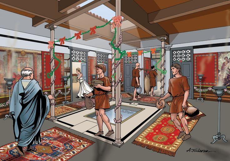 520 best images about history ancient roman houses for Domus interieur
