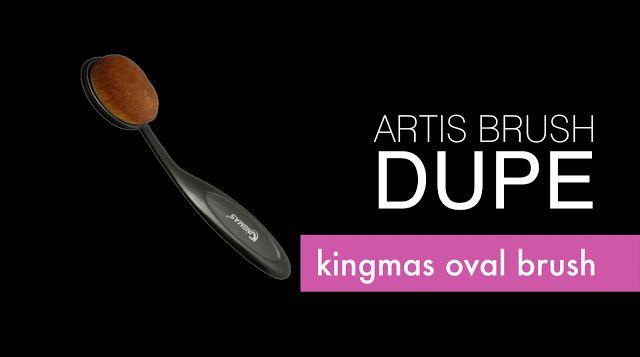ARTIS OVAL MAKEUP BRUSH Dupe Review + Demo + Makeup Brush GIVEAWAY (OPEN)