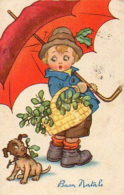 Cartoline d 39 epoca natalizie vitoronzo pastore tarjetas - Ilustraciones infantiles antiguas ...