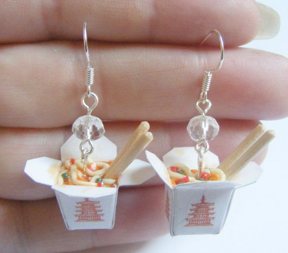 Food Jewellery Chinese Noodles Take Out Miniature Food