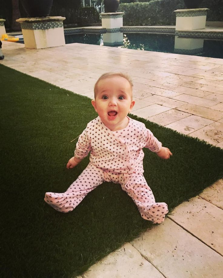 Photos of Alicia Sacramone Quinn's daughter at 6 months old