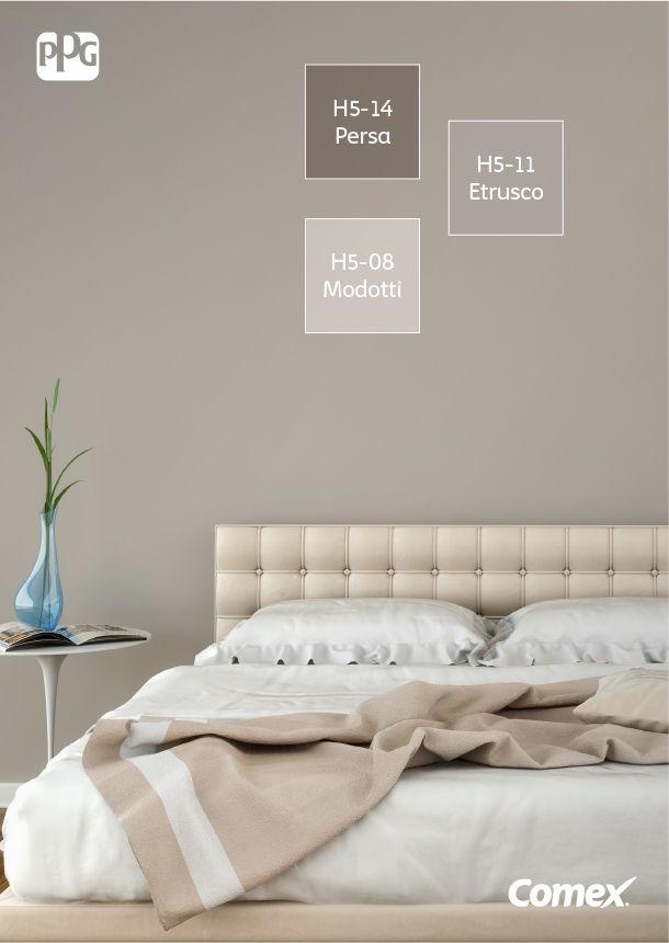 Combinar varios tonos neutros en un mismo espacio da como resultado un  ambiente tranquilo y que incita al descanso.  ComexTips  Grey  Room  … b62daa9882f