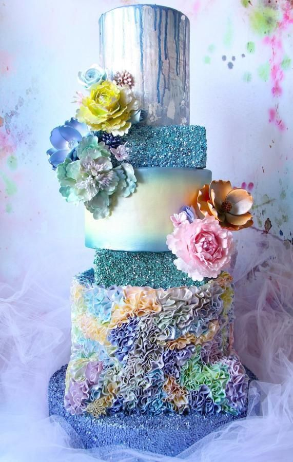 My Mother's Day Wedding Cake Everything Edible.  by Cake! By Jennifer Riley  - http://cakesdecor.com/cakes/251520-my-mother-s-day-wedding-cake-everything-edible