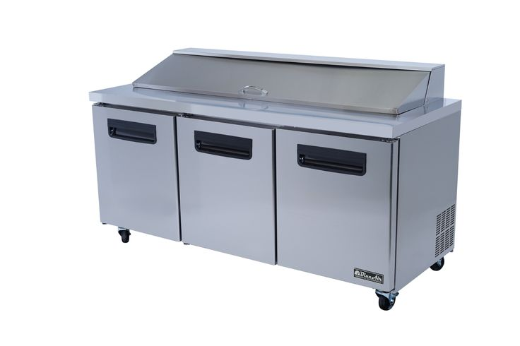"""Commercial Stainless Steel Sandwich Prep Table Refrigerator (72"""" x 30"""")"""