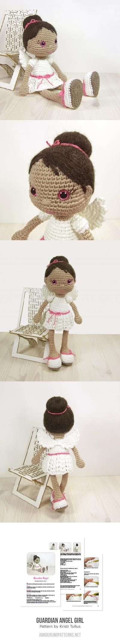 Guardian Angel Girl Amigurumi. (Pattern available to buy).