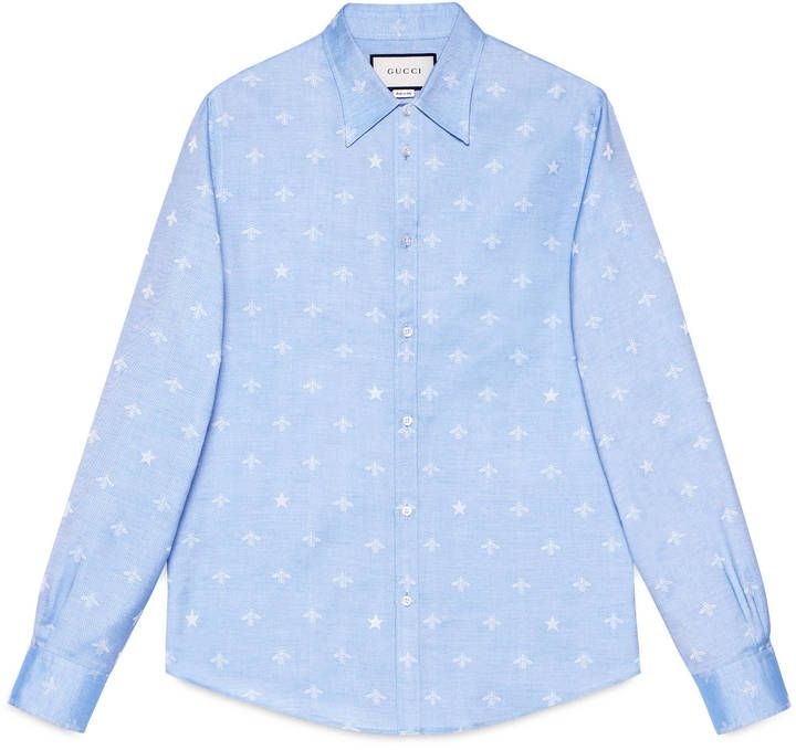 Bee jacquard oxford Duke shirt  #Gucci #shirt #ShopStyle #MyShopStyle click link to see more of shirt collection