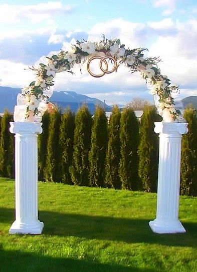 1000 ideas about indoor wedding arches on pinterest for Arch decoration for wedding