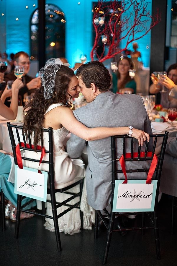 This whole wedding is just lovely and reminds me of why I never tire of coral and teal together!
