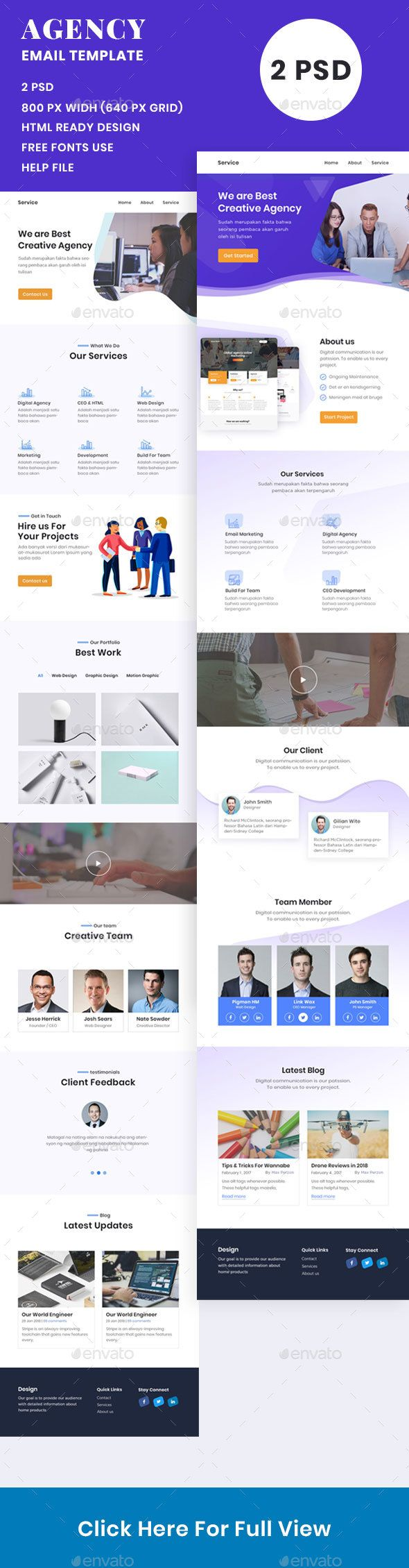 Start-up / Business Email Template - #E-newsletters #Web Elements