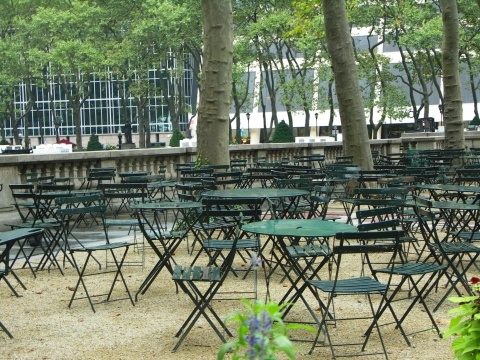 the Bryant Park cafe chair and table