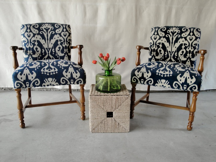 Recover Bobby's chair in ikat.