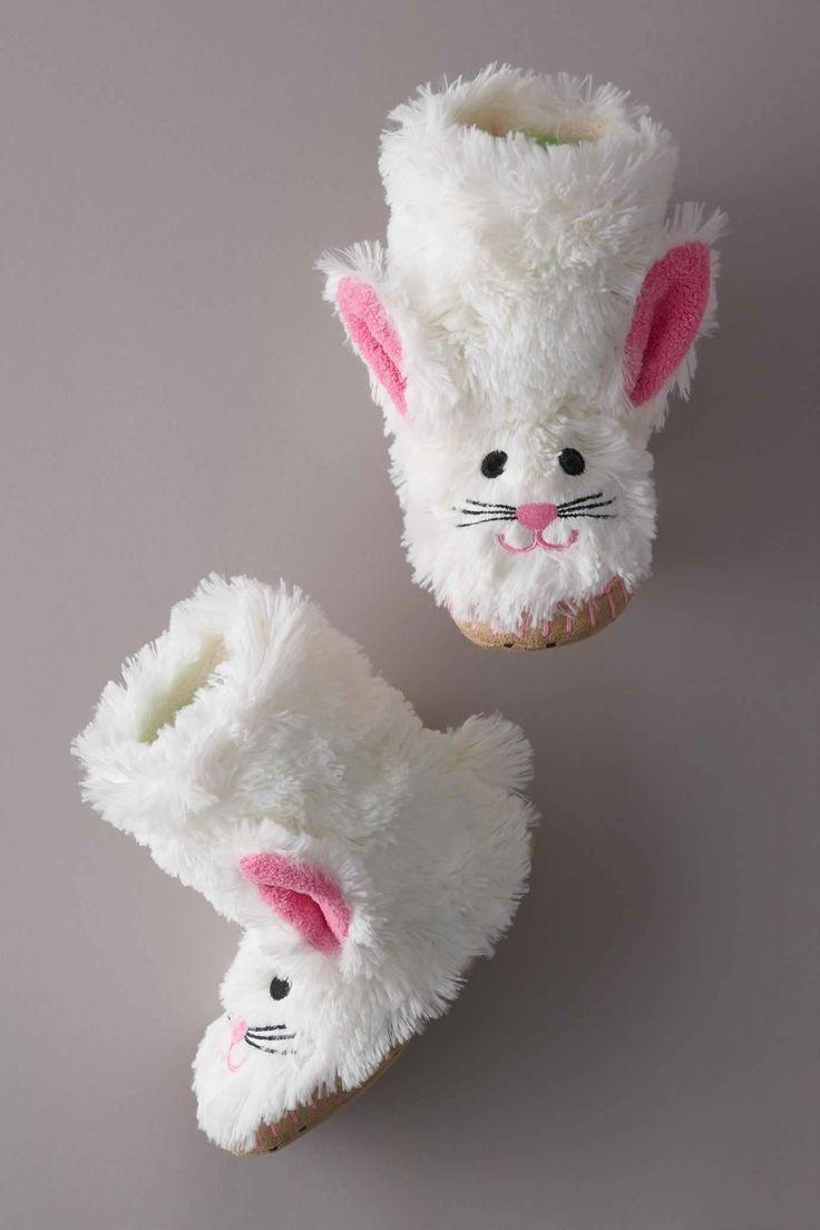 Kids Fluffy Bunny Slippers for Easter