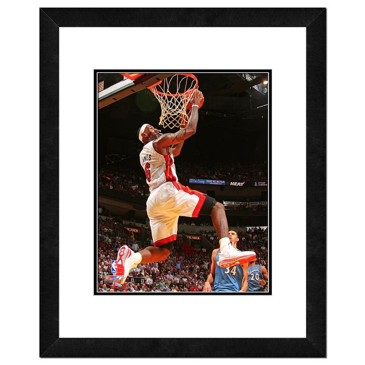 Miami Heat LeBron James Framed Wall Art, Multicolor