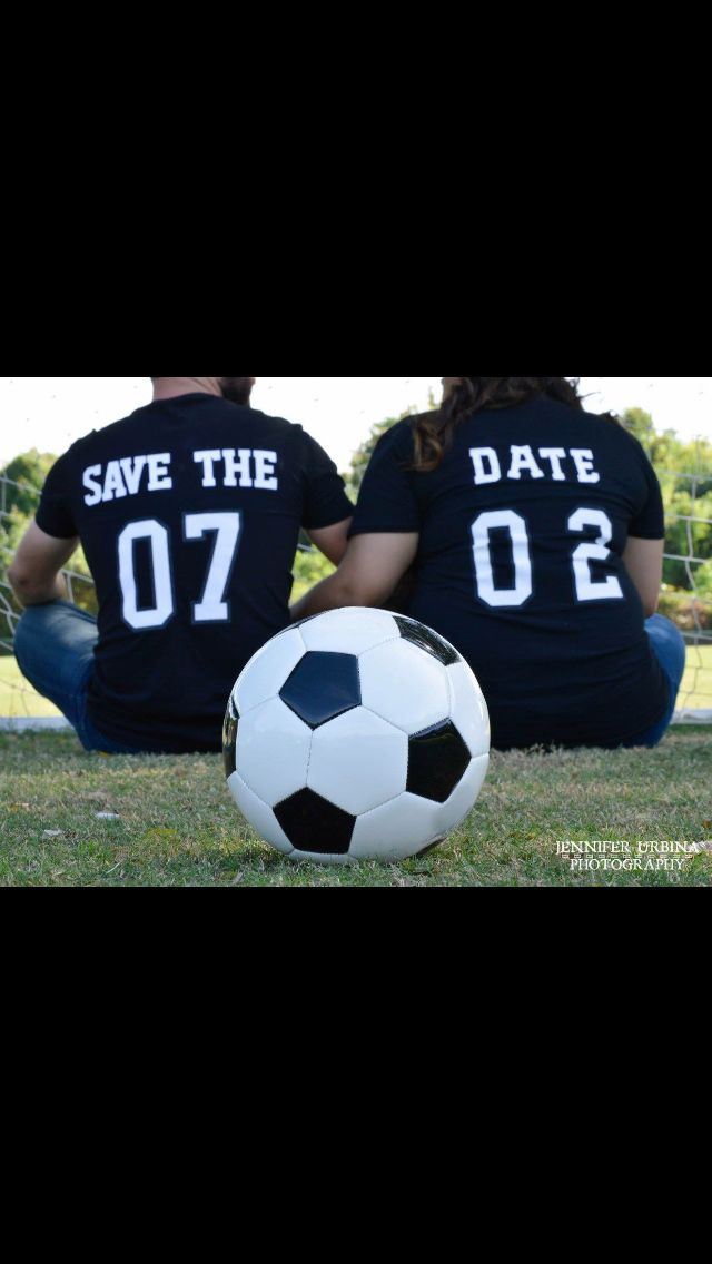 Soccer engagement pictures 2015