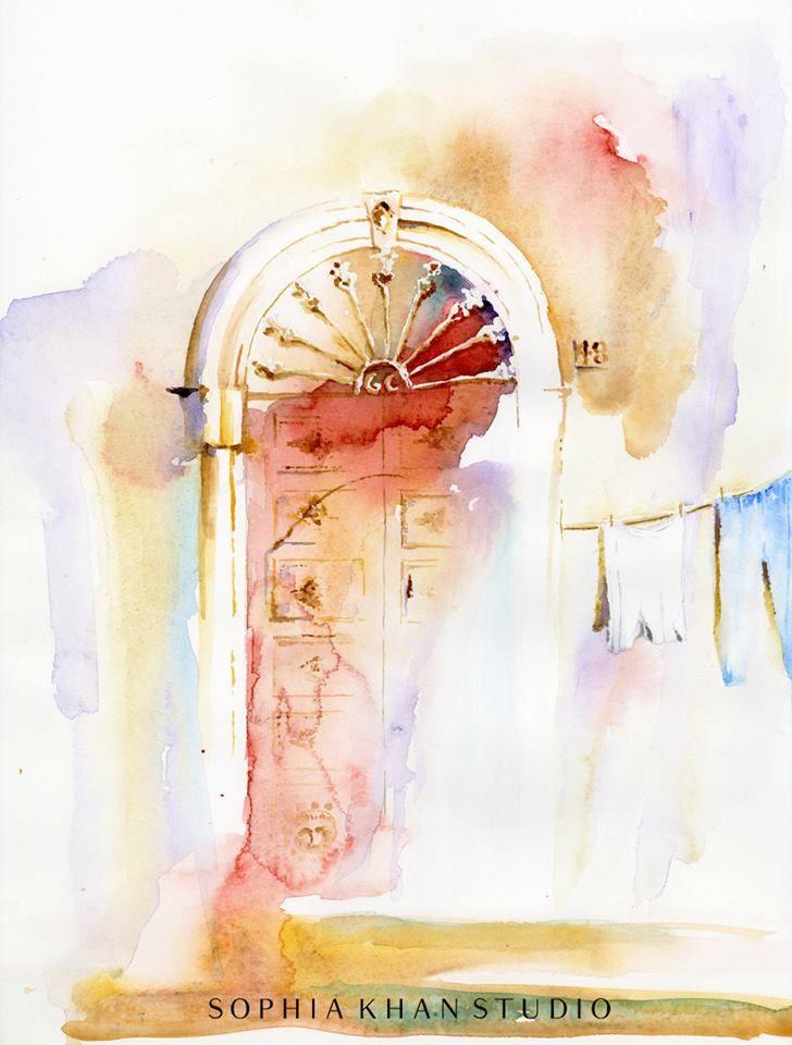 Sophia Khan watercolor.