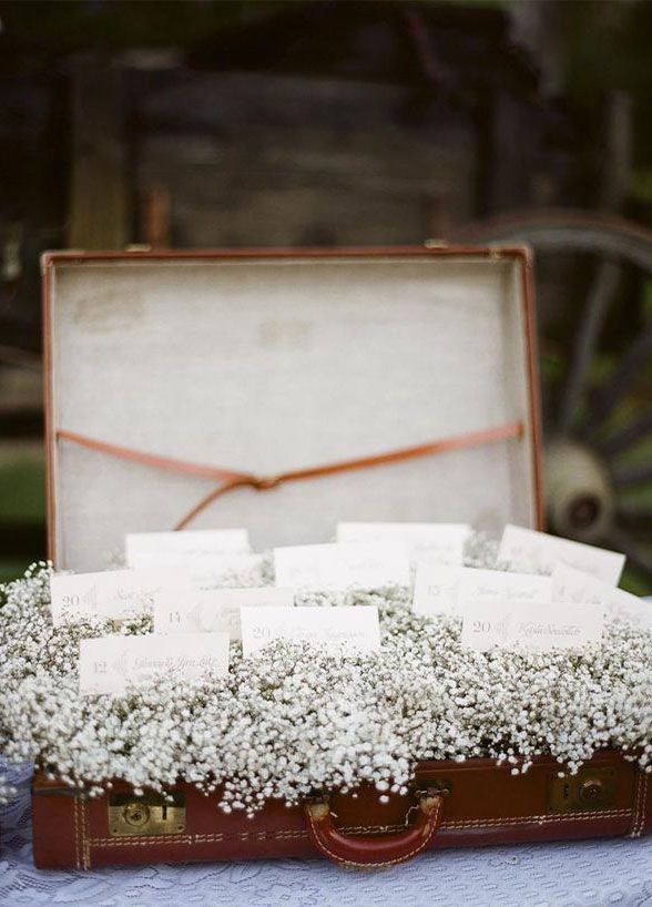 Wedding Flowers, Bouquet, Babys Breath, White Flower, Flower Arrangements || Colin Cowie Weddings