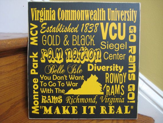 Virginia Commonwealth University VCU subway art sign by lawler01