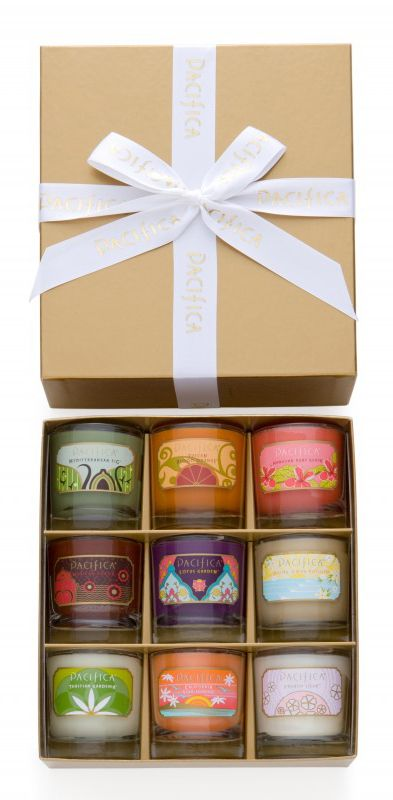 Gold Collection Soy Candle Gift Set - Bestsellers | Pacifica Perfume
