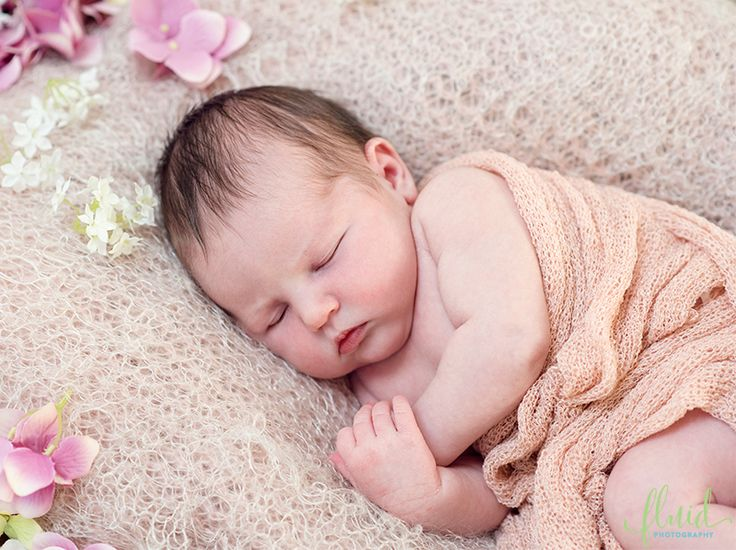 Newborn spring photoshoot