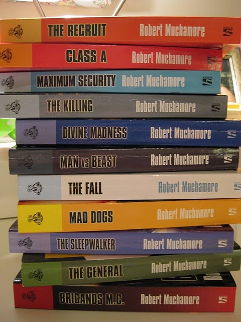 The CHERUB Series by Robert Muchamore.  My 13 year old son loves this series.
