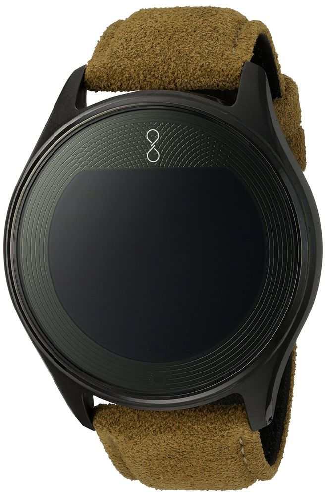 Olio 'One' H1B-SKU-08 316L SS. and Titanium Nitride Smartwatch with Tan band #Olio
