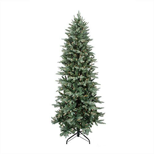 9 PreLit Washington Frasier Fir Slim Artificial Christmas Tree  Clear Lights ** Learn more by visiting the image link.