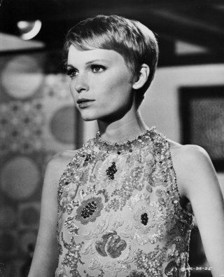Image result for mia farrow pixie cut