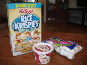 Gluten Free, Dairy Free, Soy Free Rice Krispie Treats.  Thought of you @Brooke Williams Baird Oliver