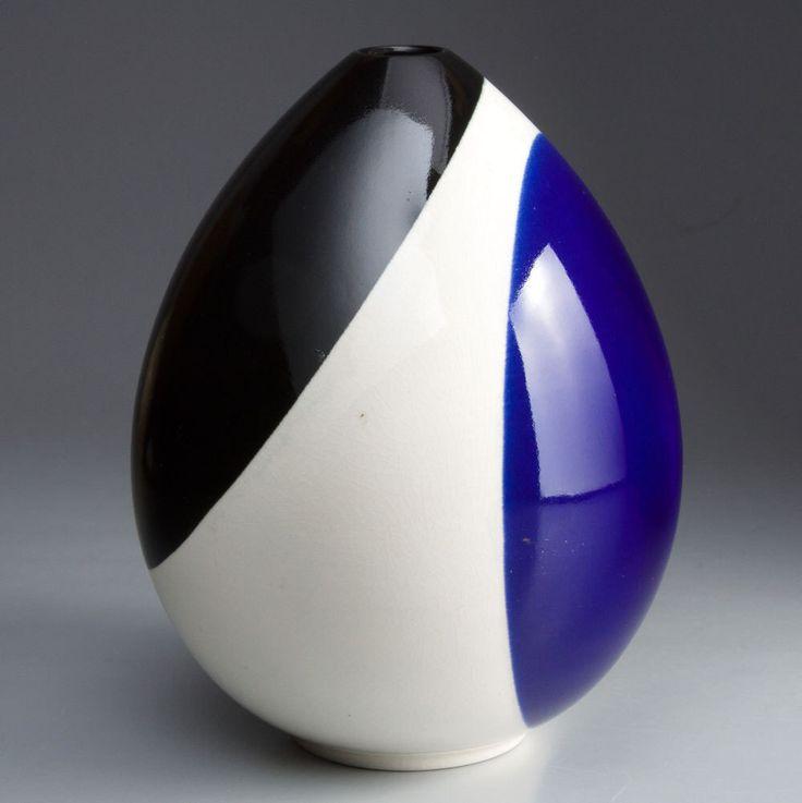 Aluminia - Nils Thorsson - COLUMBINE vase shaped like an egg by silottesdk on Etsy https://www.etsy.com/listing/225290615/aluminia-nils-thorsson-columbine-vase