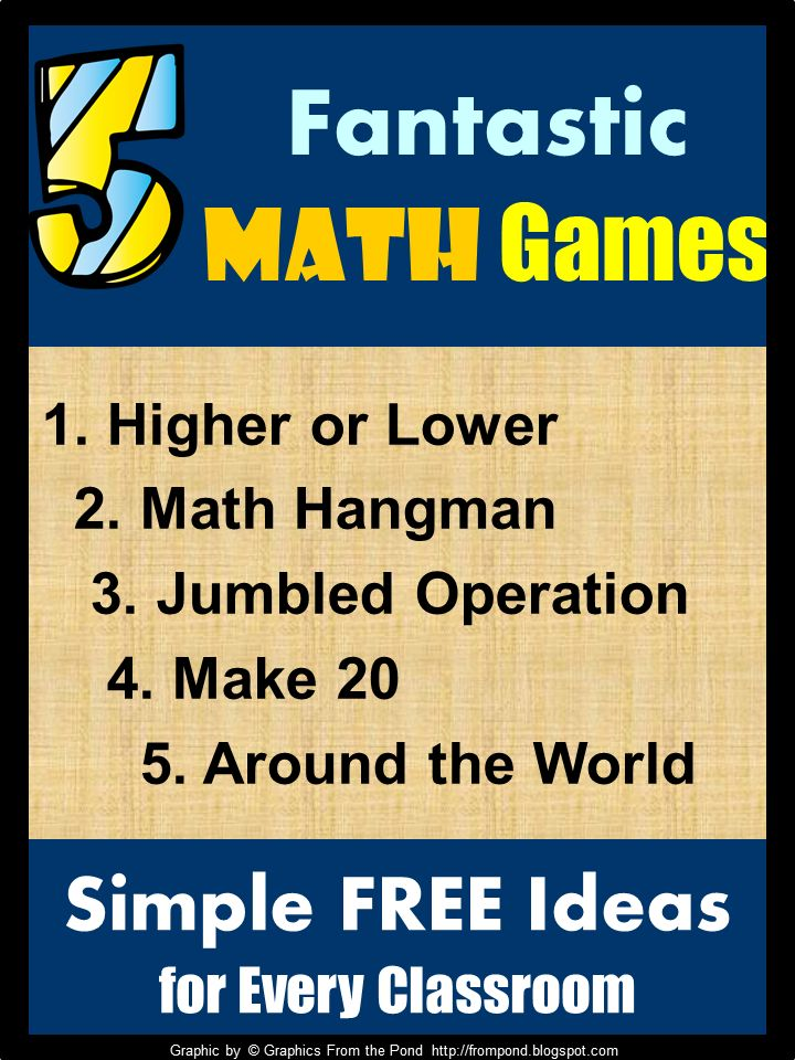 I love using math games in the classroom, especially those that are simple to use, quick to learn and effective. Below I have 5 of my favori...