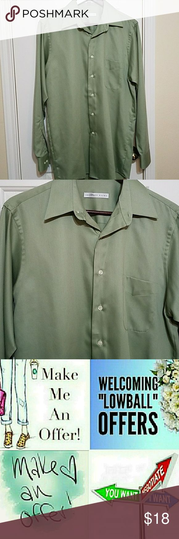 Geoffrey Beene Dress Shirt Button down long sleeve dress shirt In excellent condition  1st picture is truest to color Neck size 15.5 Size 34/35 Geoffrey Beene Shirts Dress Shirts