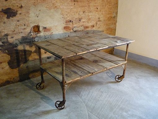 Piani Per Tavoli In Legno Vecchio.Interior Design Recupero Tavolo In Ferro Con Piano In Tavolato