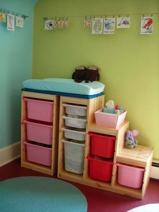 I've been looking for an affordable solution to the change table, baby storage problem. This might be it!