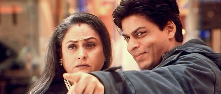 Jaya Bachchan and Shah Rukh Khan in *Kabhi Khushi Kabhie Gham...* (2001) | Celebrating Mother's Day: Movie Moms of Shah Rukh Khan #HappyMothersDay - Falling in Love with Bollywood http://www.fallinginlovewithbollywood.com/2015/05/celebrating-mothers-day-movie-moms-of-shah-rukh-khan.html?utm_campaign=socialmedia&utm_source=pinterest.com&utm_medium=filwbollywood