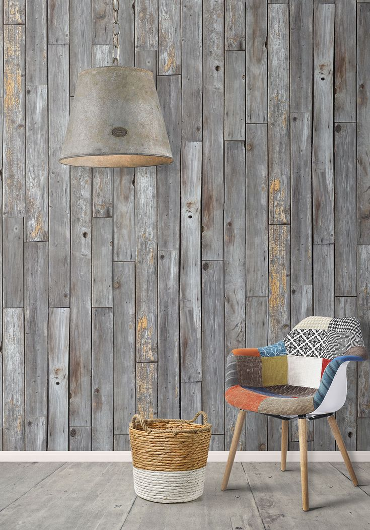 Rustic Wood Panels Wallpaper design by Milton & King | BURKE DECOR