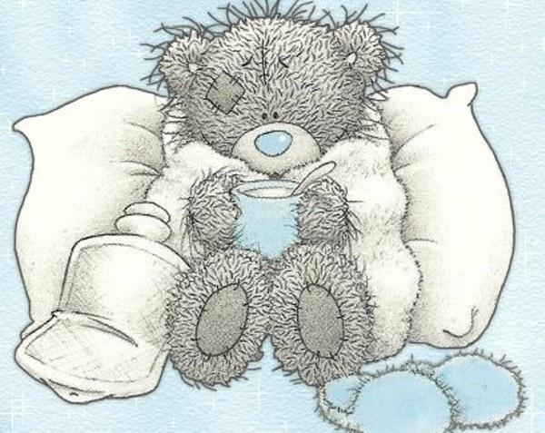 Teddy feelin' sick