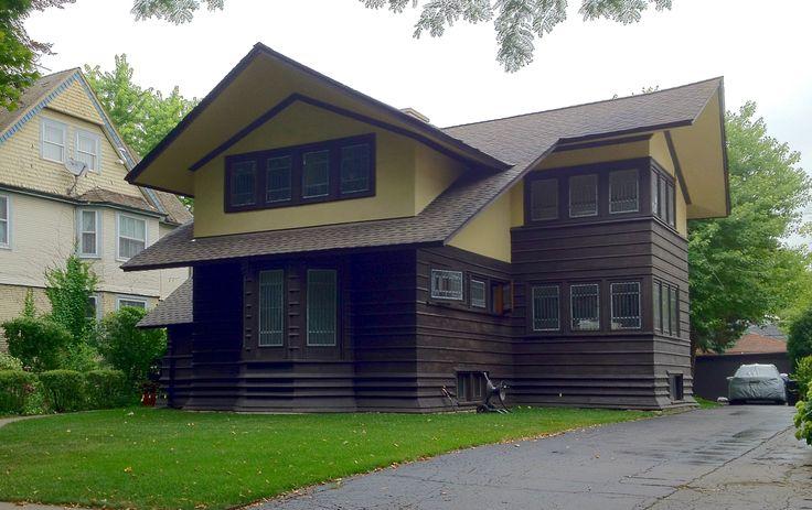 17 best flw oboler house images on pinterest for Frank lloyd wright craftsman style