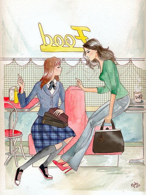 Another character drawing for the Gilmore Girl show   Gilmore Girls by Gabriela Couth, via Flickr