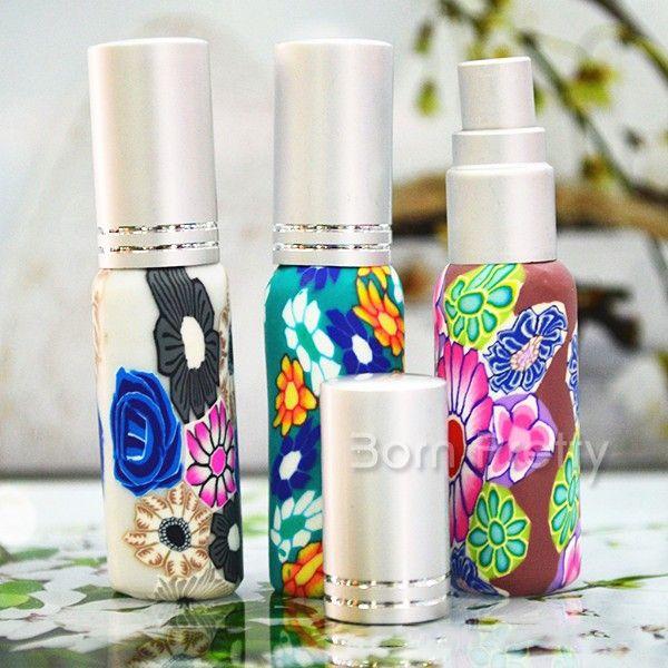 $2.80 1Pc 10ml Floral Portable Perfume Bottle Spray Refillable Bottle(Random Color) - BornPrettyStore.com