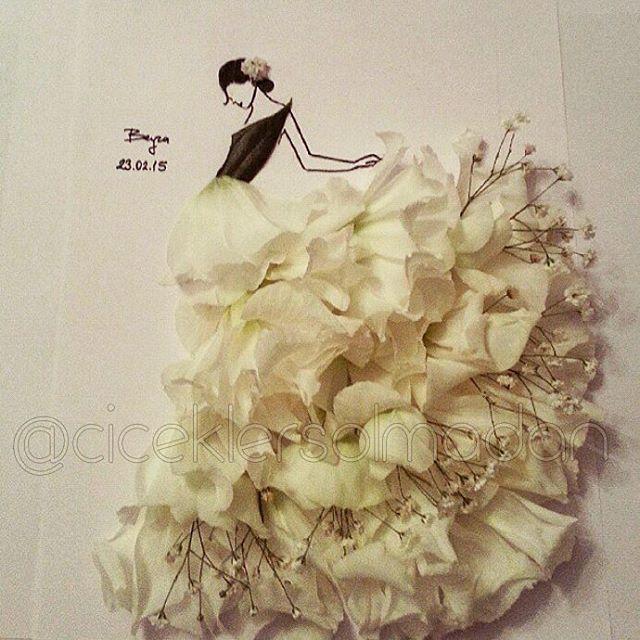 Sanatlı Bi Blog Çiçeklerle Minyatür Kadın Elbiseleri Oluşturan Sanatçı: 'Beyza Gonca Güner' 22