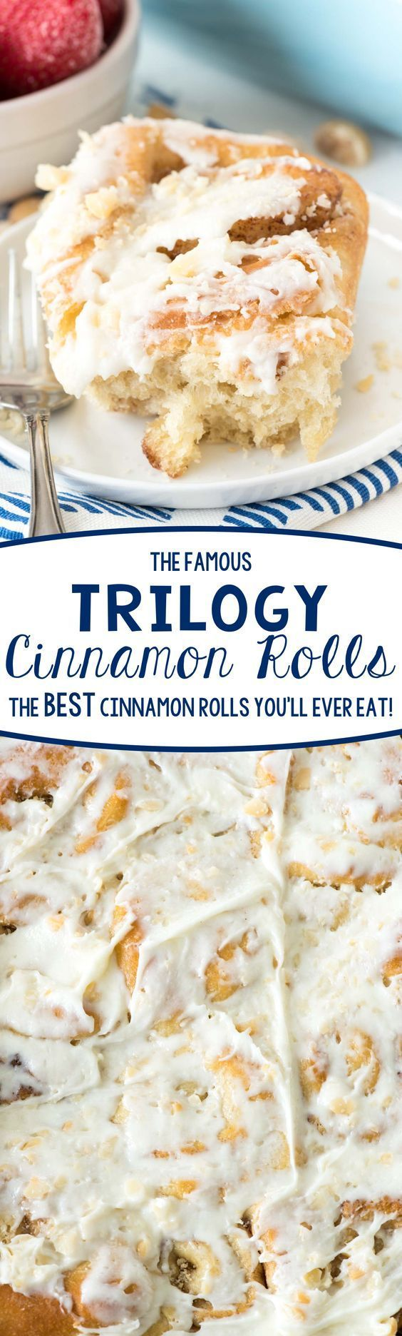 Famous Trilogy Cinnamon Rolls Recipe - this is the BEST CINNAMON ROLL RECIPE I've ever eaten!