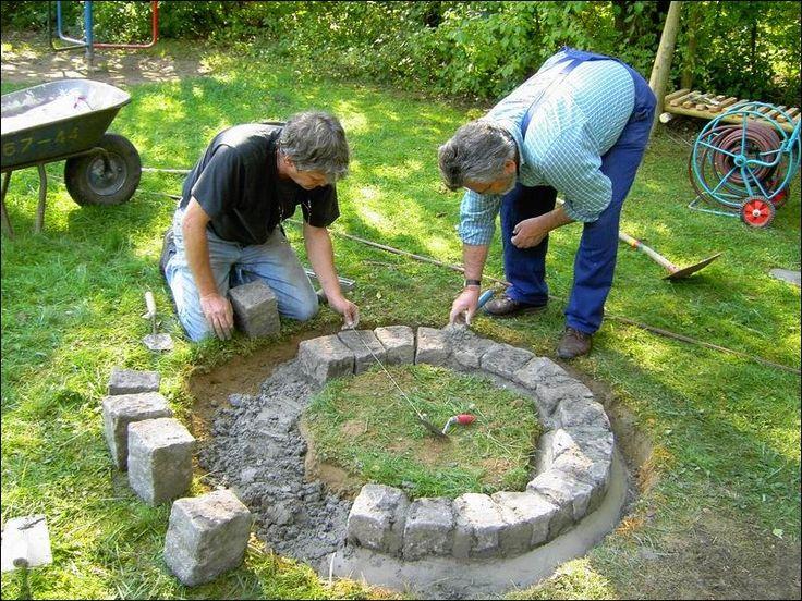 17 best ideas about feuerstelle selber bauen on pinterest | roter, Garten und Bauen