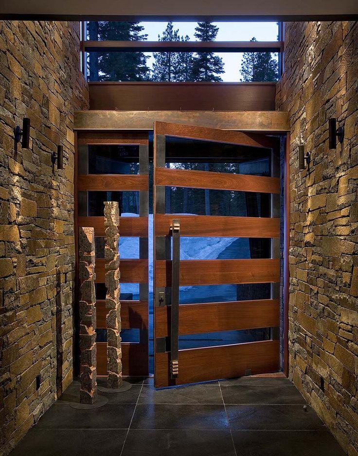 Best 25 modern front door ideas on pinterest modern for Pivot home designs