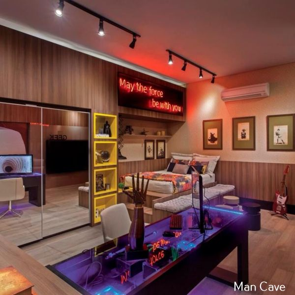 Man Cave Bedroom: Ultimate Man Cave Website #mancaveideas Mancave Ideas
