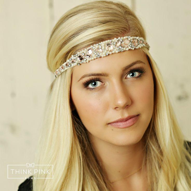 Divine Love Bridal Rose Gold Rhinestone Girl Headband